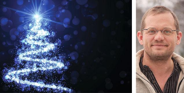 »Weihnachten funktioniert auch ohne Weihnachtsgeschichte«, sagt der Theologe Matthias Morgenroth. (Fotos: istockphoto/Vjom; privat)