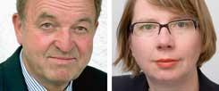 """Sollen Schüler heute noch Latein lernen? Ex-Wirtschaftslenker Jörg Menno Harms sagt: """"Ja!"""" Psychologin Elsbeth Stern sagt: """"Nein!"""" (Fotos: HS-Furtwangen; ETH Zürich)"""