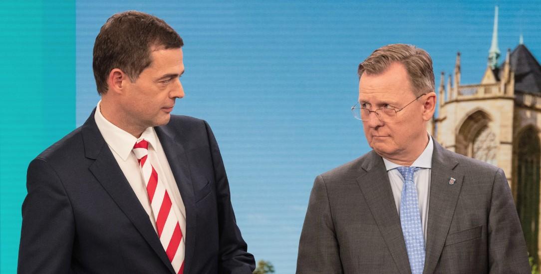 Mohring und Ramelow: Zusammenarbeit von Fall zu Fall (Foto: pa/Michael)