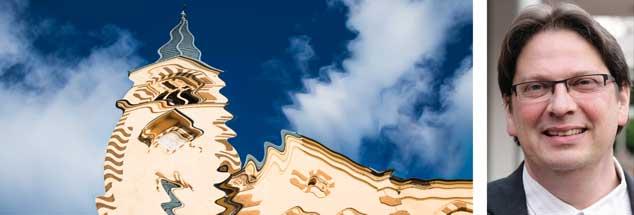 Kirche im Koma: Siegfried Eckert (rechts) ist überzeugt, dass seine evangelische Kirche keine Motivation hat, einen großen Wurf für die Zukunft zuzulassen. Angst und Ideenlosigkeit geben den Rat: Lieber nicht zu viel wagen. Das Ergebnis: Man wird von der Wirklichkeit nicht aus dem Koma geholt.  (Fotos: istockphoto/Tycson1; privat)