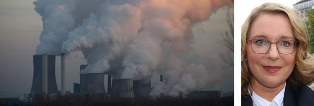 Das Braunkohlekraftwerk Neurath im Rheinland: Je länger Deutschland mit dem Ausstieg aus der Braunkohle wartet, umso abrupter wird der Wechsel, warnt die Ökonomin Claudia Kemfert  (Fotos: pa; pa/rtn/patrick becher)