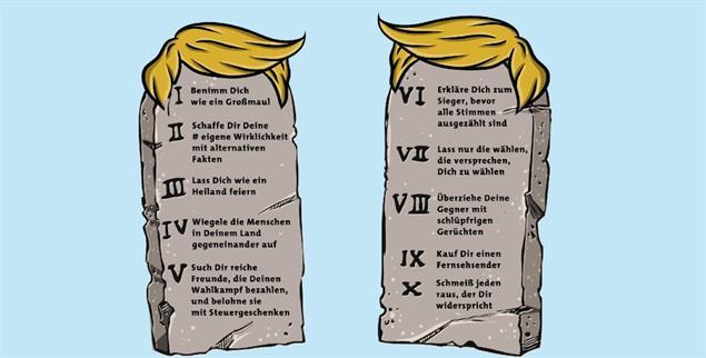 Die zehn Gebote, die Demokratie zu ruinieren.(Illustration: istockphoto/Big_Ryan)