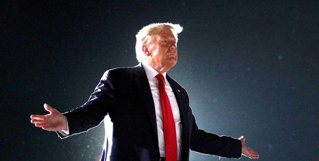 Performt einen archaischen männlichen Heldenmythos: US-Präsident Donald Trump (Foto: PA/ABACA)