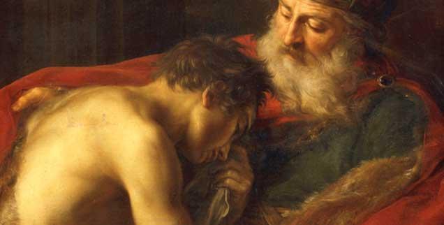 Ein Urbild der Barmherzigkeit: Die Heimkehr des verlorenen Sohnes, gemalt von Pompeo Batoni (1708-1787) (Foto: pa/akg)