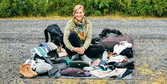 Die Weltenbummlerin Katharina Finke: 2012 löste sie ihre Wohnung in Hamburg auf, seither ist sie mit wenig Gepäck unterwegs (Foto: David Weyand)
