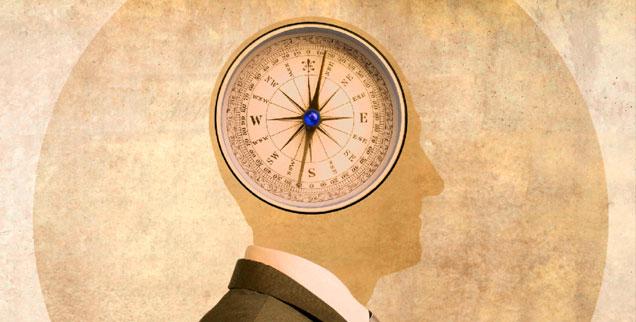 Man stellte sich Gehirne lange wie Uhrwerke vor, die heutige Hirnforschung sieht sie hingegen als soziale Organe, die in Beziehung stehen zur Welt. An die Stelle der Vorstellung von einer absoluten Autonomie tritt die Einsicht, dass alles Leben aufeinander bezogen und voneinander abhängig ist (Grafik: iStock by Getty/DNY59)