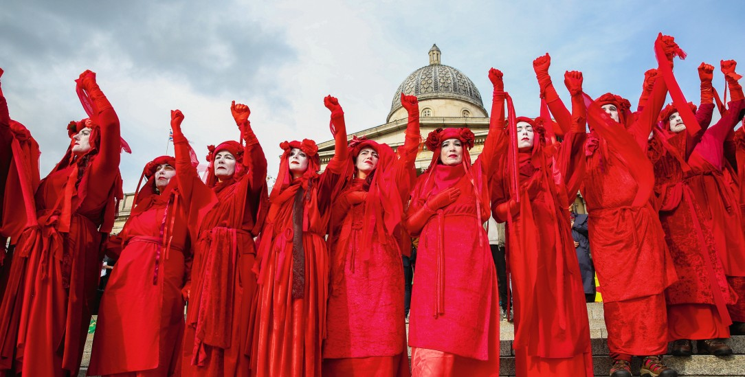 Die Bewegung »Extinction Rebellion« nutzt apokalyptische Inszenierungen für die politische Mobilisierung.(Foto: pa/ Taylor)