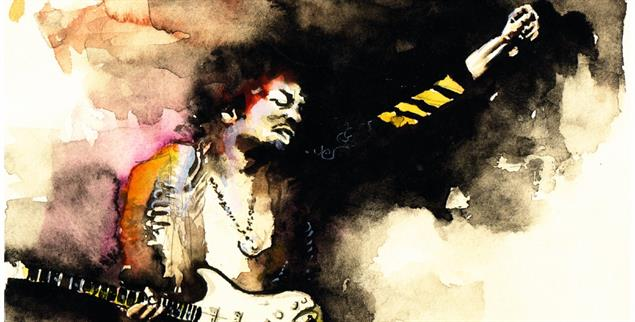 Als der Rock noch wütend war: Jimi Hendrix (Foto: pa/Reddemann)