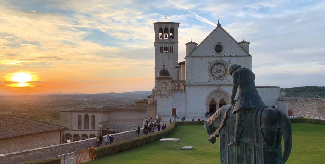 Am Ziel: Die Basilika San Francesco in Assisi (Foto: Bernd Hauser)
