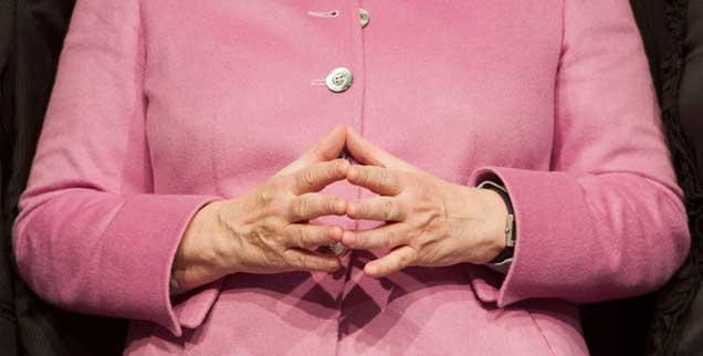 Nachdenken, hoffen, beten: Glaubt Angela Merkel selber noch an ihren Satz »Wir schaffen das!«? (Foto: pa/Sauer)