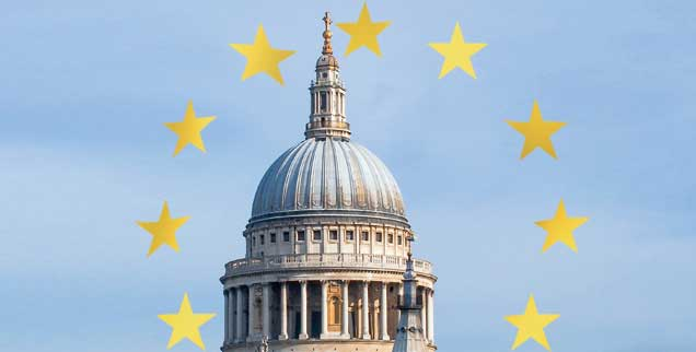 What shall we do?: Die anglikanische Kirche, im Bild St. Paul's Cathedral, ist in der Brexit-Frage gespalten (Fotos: Getty Images/iStockphoto/Victorburnside; Getty Images/iStockphoto/daboost)