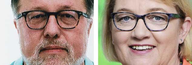 Sollte es künftig eine Impfpflicht für Kinder geben? Der Kinderarzt Thomas Fischbach (links) sagt: »Ja!« Die Grünen-Politikerin Kordula Schulz-Asche meint: »Nein!« (Fotos: Pressefoto BVKJ; Pressefoto/Kaminski)