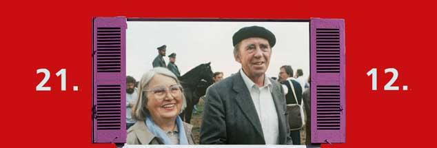 Mutlangen, 1983: Annemarie und Heinrich Böll blockieren ein US-Depot mit Pershing-II-Raketen. (Foto: pa/Melchert)
