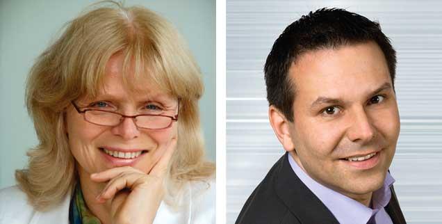 "Verschwendet Raumfahrt Geld? Eva Baumann-Lerch (links) sagt: ""Ja!"" Dirk Wagner (rechts) sagt: ""Nein!"" (Fotos: privat; hr)"