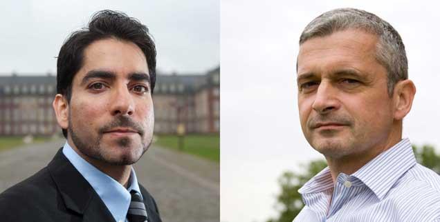 Mouhanad Khorchide (links), Joachim Valentin: Macht Religion menschlich? (Fotos: pa/Thissen; Georg Haab)