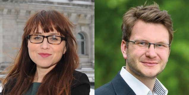 Kann man Bürger zweier Staaten sein? »Ja!« sagt Cemile Giousouf (links), »nein!« Marian Wendt (rechs). Spannend: Beide sind CDU-Abgeordnete im Deutschen Bundestag.