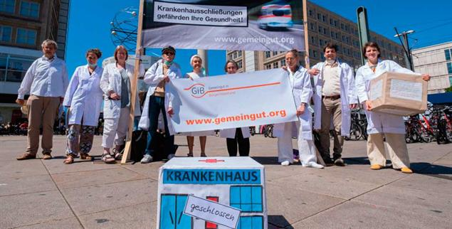 Berlin-Alexanderplatz: Demonstration gegen das Kliniksterben am 23. Juni 2020 (Foto: PA/SZ Photo/Zöllner)
