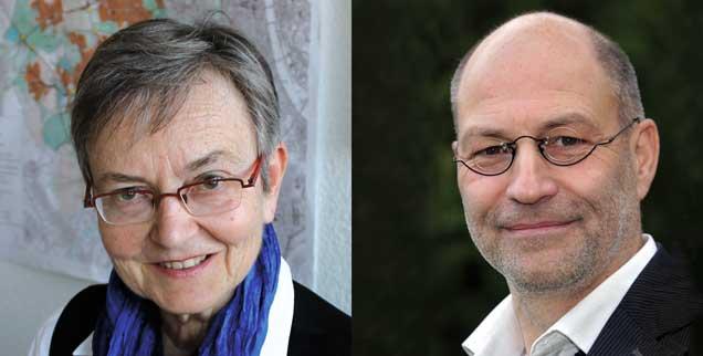 Claudia Pinl (links) und Ralf-Uwe Beck (rechts): Sie will das Ehrenamt abschaffen, er will es behalten. (Fotos: privat)
