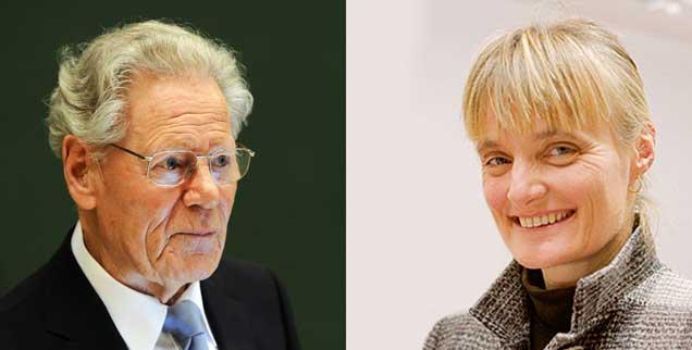 Der Theologe Hans Küng und die Sterbebegleiterin Monika Renz streiten über die Frage: Darf ein Christ sich töten? (Fotos: pa/Bockwoldt; privat)