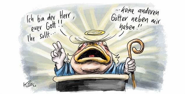 Was macht Donald Trump in Zukunft? (Zeichnung: Klaus Stuttmann)