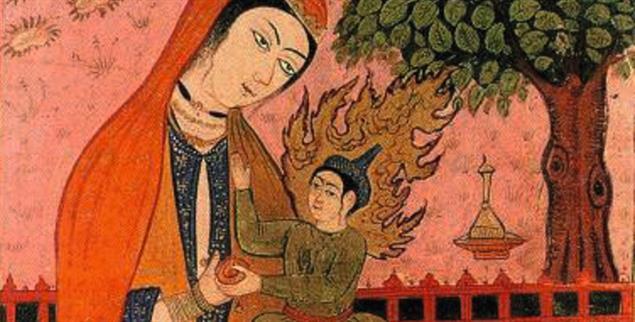 Maryam und Isa im Koran: Persische Miniatur (Foto: alamy)