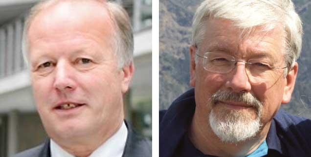 "Brauchen wir eine Tarifeinheit per Gesetz? Peter Weiß (links) sagt: ""Ja!"" Franz Segbers (rechts) sagt: ""Nein!"" (Fotos: www.peter-weiss.de; privat)"