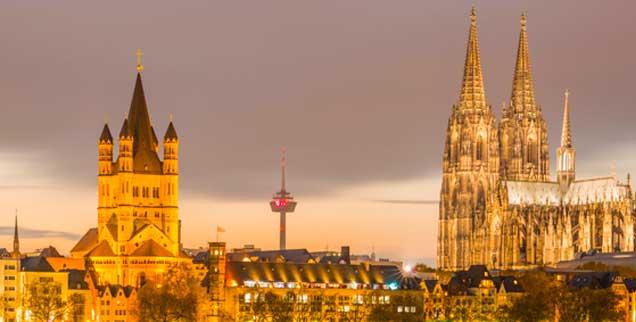 Goldenes Köln: Die katholische Kirche ist wohl eine der reichsten Institutionen in der ganzen Stadt. Das Erzbistum ist aber auch im deutschen Bistumsvergleich »on top«. (Foto: pa/Chromorange/Walter G. Allgöwer)