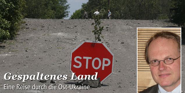 Was wird aus der Ost-Ukraine? Bernhard Clasen bereist die Region, trifft Menschen und hört ihre Meinungen. Lesen Sie sein Reisetagebuch in dieser Woche auf www.publik-forum.de! (Foto:pa/dpa/Zurab Dzhavakhadze)