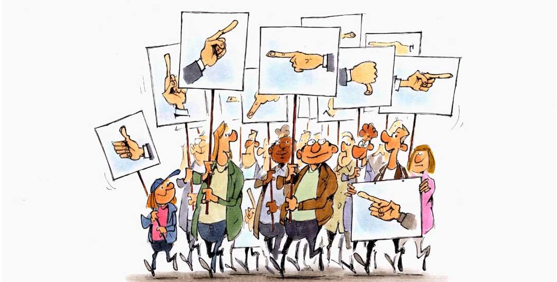 Anstrengung der Demokratie (Zeichnung: Mester)