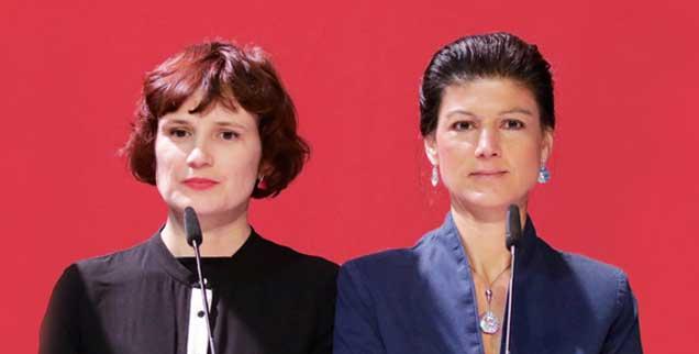 Beim Streit zwischen der Linken-Parteivorsitzenden Katja Kipping (links) und der Fraktionsvorsitzenden Sahra Wagenknecht geht es um mehr als um persönliche Animositäten (Foto: Popow/Ullstein)