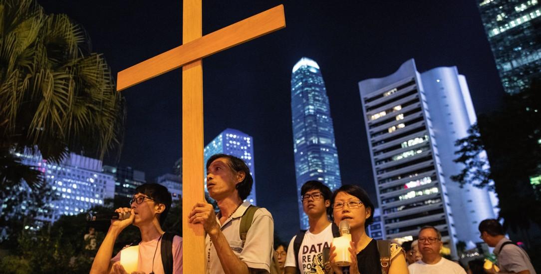 Hongkong: Eine Gruppe von Christen demonstriert gegen das Auslieferungsgesetz. (Foto: pa/reuters/Danish Siddiqui)