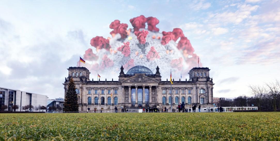 Corona ist das beherrschende Thema: Doch der Bundestag ist derzeit meist außen vor. Das sollte sich ändern. (Foto: pa/Christoph Hardt/Geisler-Fotopres)