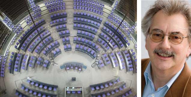 """Was wird in diesem Bundestag in den kommenden Jahren geschehen? """"Die Wahlsiegerin des 24. Septembers 2017 heißt Angst"""", sagt Wolfgang Kessler (rechts). (Foto: pa/Kappeler)"""