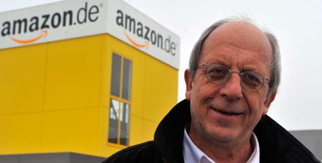 Erwin Helmer, Diözesanpräses der KAB Augsburg, kritisiert die die Bedingungen, zu  denen Beschäftigte beim Versandhändler Amazon arbeiten (Foto: PA/Sueddeutsche/Puchner)
