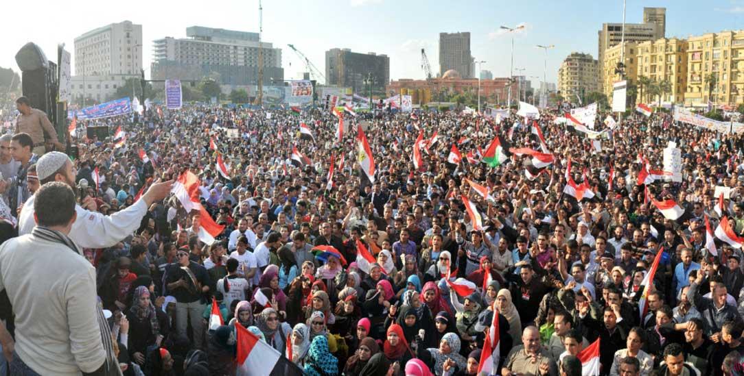Der Tahrir-Platz in Kairo im April 2011 (Foto: Barry Iverson/Alamy Stock Photo)