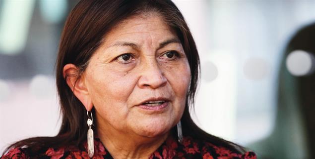 Elisa Loncón will Chile in ein plurinationales Land verwandeln (Foto: Elvis Gonzalez/imago)