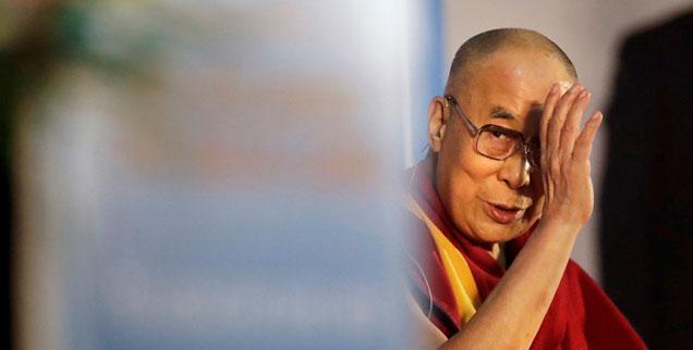 """""""Jetzt ist die Zeit gekommen zu verstehen, dass wir eine Menschheit auf einem Planeten sind"""", sagt der Dalai Lama (Foto: pa/AP/Manish Swarup)"""