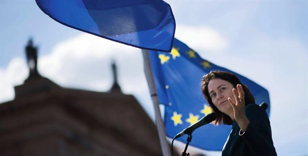 Katarina Barley, Sozialdemokratin und Vizepräsidentin des EU-Parlaments,ist eine überzeugte Europäerin (Foto: imago images/IPON)