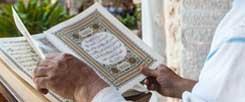 Welche Rolle spielt Schönheit in der Religion? Eine aufwendig gestaltete Koran-Ausgabe (Foto. pa/Norz)