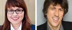 Ist das neue Asylgesetz hilfreich? Cemile Giousouf (links) sagt: Ja! Günter Burkhardt (rechts) sagt: Nein! (Fotos: CDU-NRW; pro asyl)