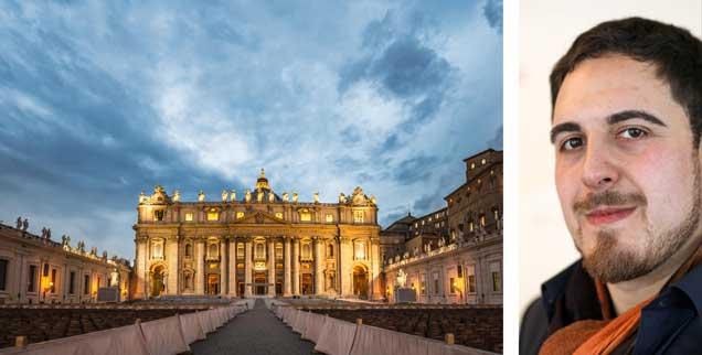 Am Ende des Vatikan-Gipfels: Der Vorhang fällt - und alle Fragen offen. »So wird die Kirche ihre Glaubwürdigkeit nicht wieder herstellen können«, sagt Thomas Andonie (rechts). (Fotos: pa/Wolf; KNA)