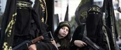 Kämpfen für den Islamischen Staat: Immer mehr junge Frauen werden Gotteskriegerinnen. Sogar Kinder werden rekrutiert. (Foto: pa/Saber)