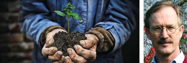 """Kann Ökolandbau die Welt ernähren? Nur der Ökolandbau kann es, meint der Agrarwissenschaftler Felix zu Löwenstein in der Debattenreihe """"Streitfragen zur Zukunft"""" (Fotos: istockphoto/valentinrussanov; BÖLW)"""