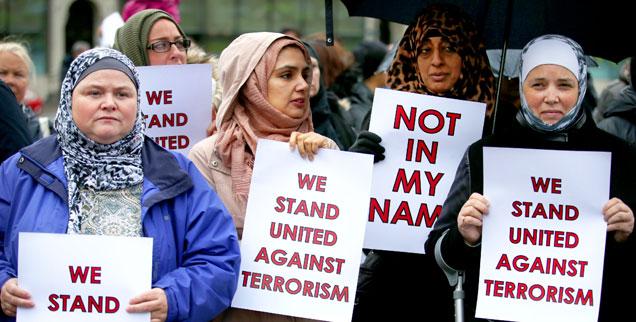 Die muslimische Demo in Köln ist bei weitem nicht die erste ihrer Art: Hier demonstrieren Musliminnen Mitte Juni in Glasgow gegen islamistische Fanatiker und deren Missbrauch der Religion (Foto: pa/Jane Barlow)