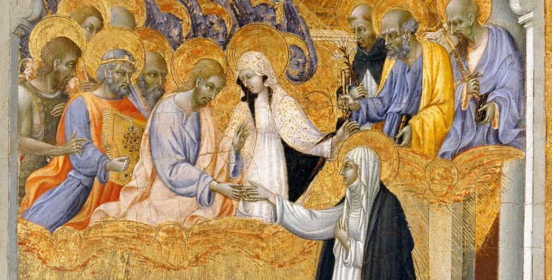 Gottesliebe einer Mystikerin: Giovanni di Paolo (1403-1482), malte die »heilige Hochzeit« der Katharina von Siena (Foto: wikipedia)