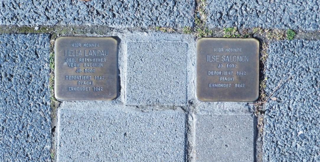 Erinnern an Menschen und ihre Geschichte: Stolpersteine in Darmstadt (Foto: Mierzwa)