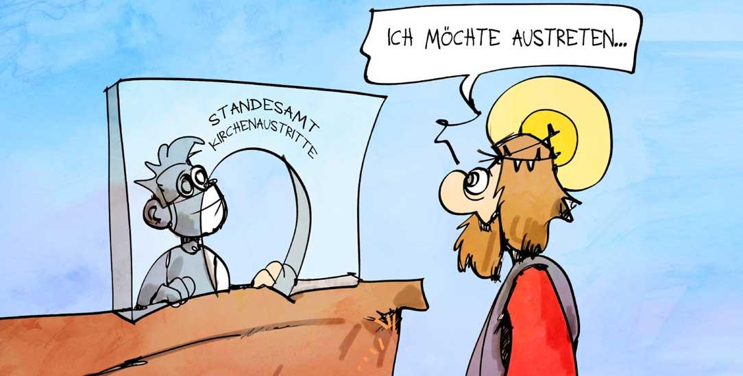 (Zeichnung: PA/Die Kleinert/Kostas Koufogiorgos)