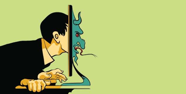 Abgründig: Im Internet verlieren viele Menschen ihre Hemmungen. (Illustration: istockphoto/dan177)