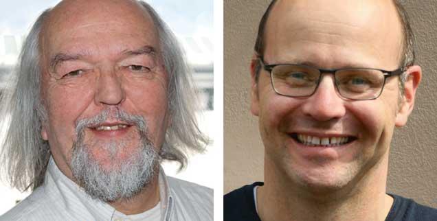 "Starres Rentenalter abschaffen? Martin Hagenmaier (links) sagt: ""Ja!"" Michael Schrom (rechts) sagt: ""Nein!"" (Fotos: Privat; Publik-Forum)"
