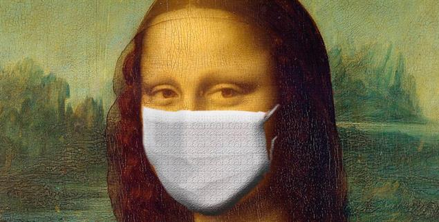 Mona Lisa in Corona-Zeiten (Foto: Pixabay/Sumanley Xulx)